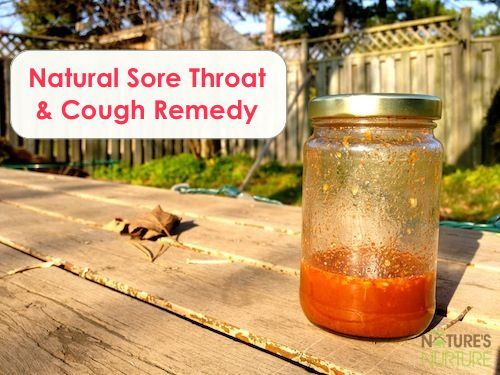 Natural Sore Throat & Cough Remedy. Just tried it and my throat no longer hurts and I haven't coughed yet!