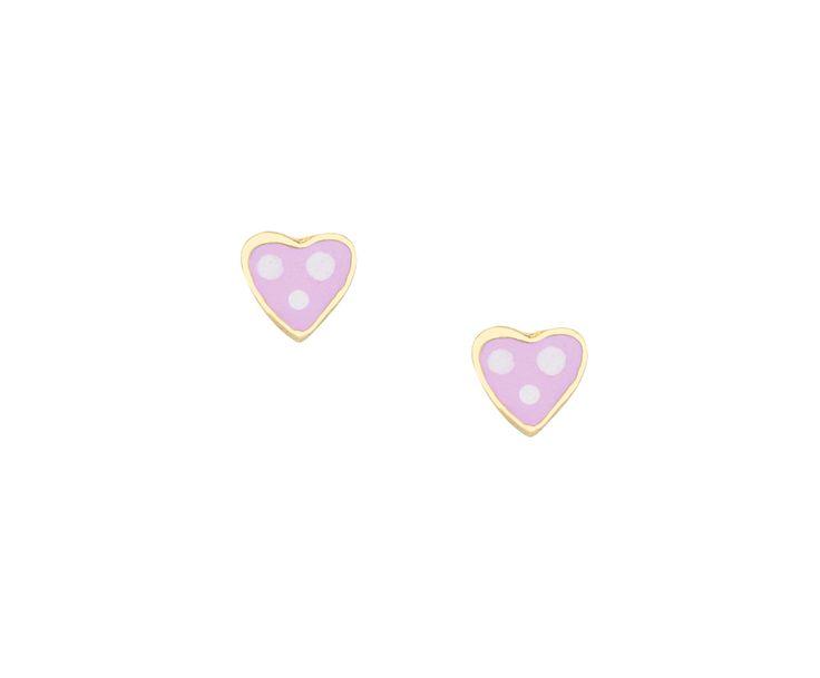 gold fashion earrings in 14K