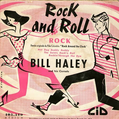 Pochette disque vinyle 45 tours Bill Haley Rock around the clock