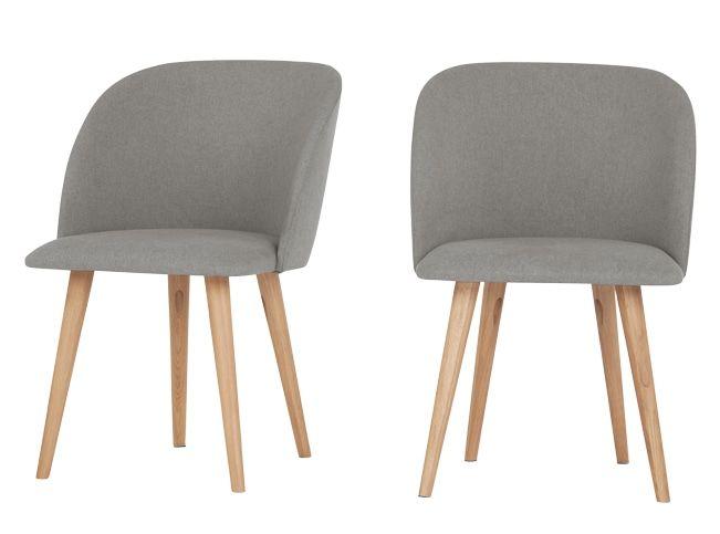 2 x Stig Dining Chairs, Manhattan Grey and Oak
