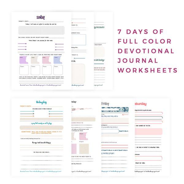 Her Binder Project - 7 Day Devotional Journal - DIGITAL COPY by Morgan Harper Nichols
