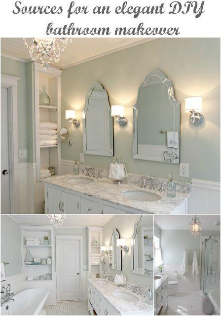 Master Bathroom Pedestal Tub White Subway Tile Carrera