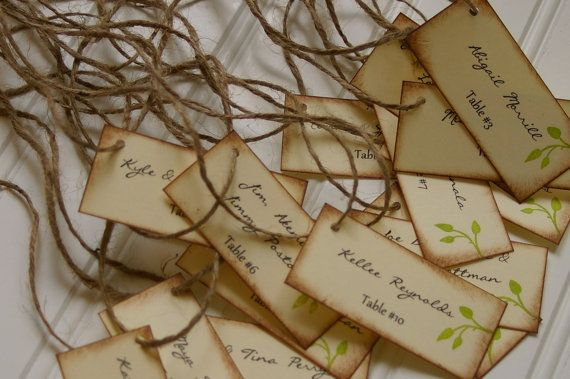 Rustic Escort Cards Place Card Custom Handmade by RubyLaneMoments, $1.25
