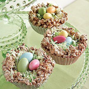 Crispy Easter Nests | MyRecipes.com