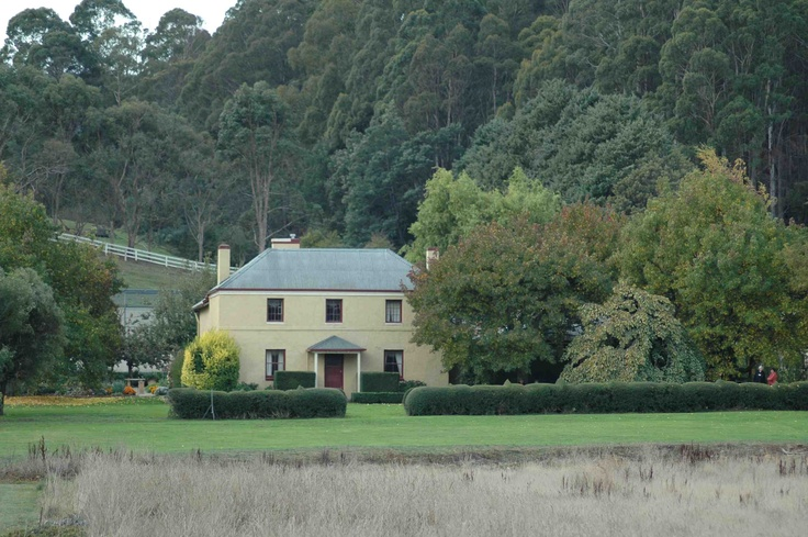 "Invisible fences and a hedge shaped like baby elephants add a touch of fun to a picture-postcard heritage property ""Old Wesleydale"" in Tasmania."