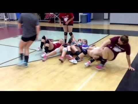 Nipomo High School Volleyball Camp Team Building Exercise Conveyor Bely - YouTube