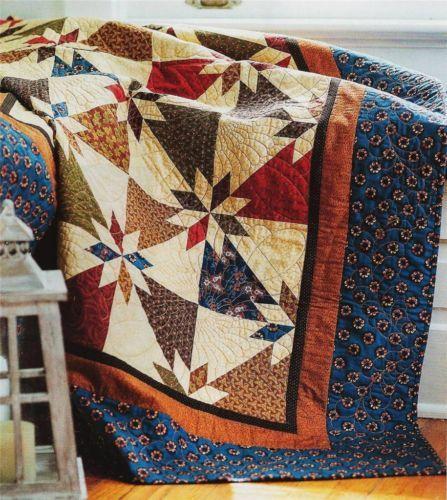 Hunter's Star Quilt Pattern from Magazine Scrap Friendly One Block Design   eBay