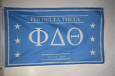 Phi Delta Theta College Fraternity Official Licensed Flag Banner 3x5