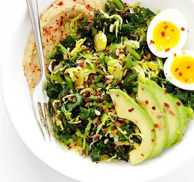 Hummus and Veggie Breakfast Bowls - All Veggie Recipes