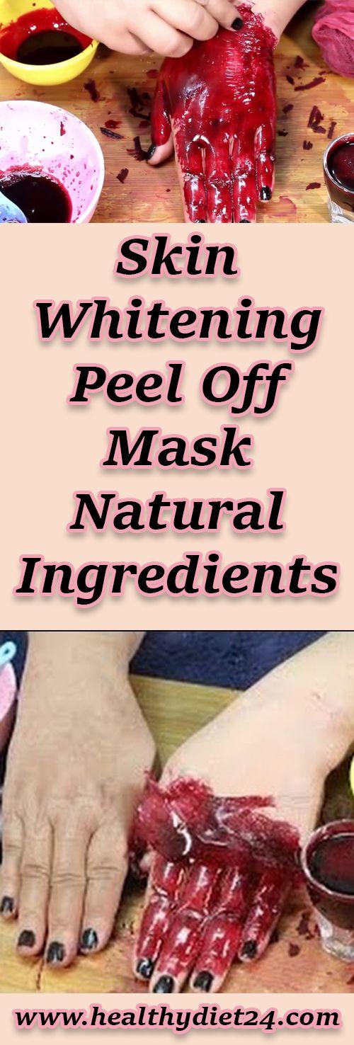 Skin Whitening Peel Off Mask Natural Ingredients