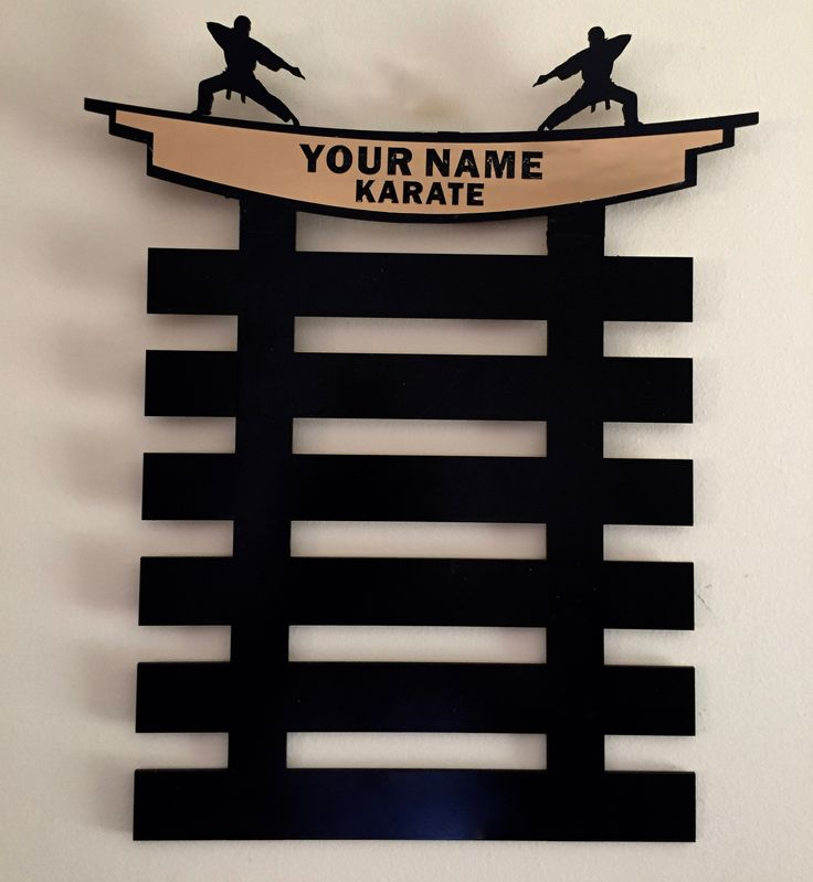 Martial Arts Belt Display Stand 6 level with Personalized Name