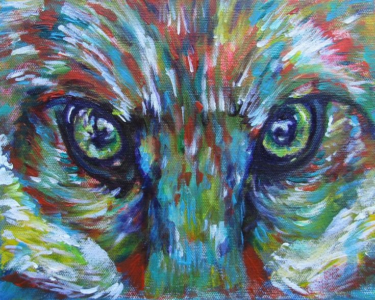 Buy The Eyes Have It, Acrylic painting by Karin  McCombe Jones on Artfinder. Discover thousands of other original paintings, prints, sculptures and photography from independent artists.
