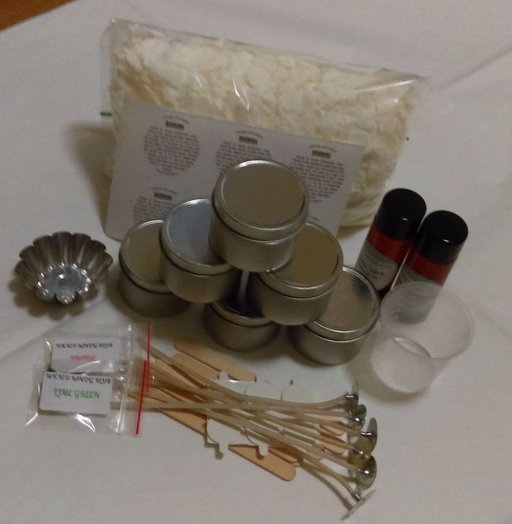 SEAMLESS TRAVEL TIN  4OZ X 6 CANDLE MAKING KIT- GREAT FOR BEGINNERS