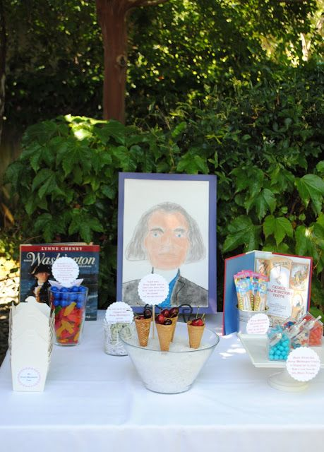 Presidents Weekend Party- Tribute to George Washington Treat Table