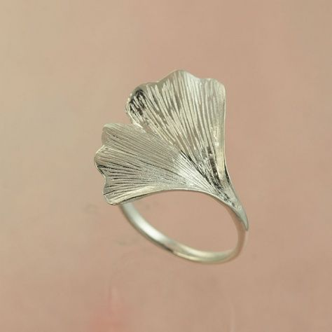 Ginko Ring £28.00 An elegantly designed handcrafted sterling silver leaf inspired by my favorite tree All of our silver jewellery comes beautifully packaged in our new Christin Ranger gift boxes.