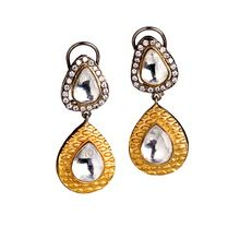Designer fashion jewellery-Sunset Walk gold and silver Earrings bridal jewellery/jewelry/jewellery for events/ball
