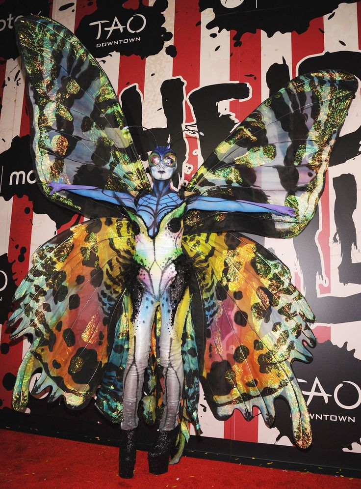 Heidi Klum dressed as a butterfly this year at her annual Halloween party -- see her crazy costume here!