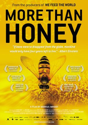 More than Honey, a film by Markus Imhoof, is a beautifully made documentary about the disappearance of bees worldwide and what it means for our food supply and economy. For screening schedule or to find out how to host a screening, visit morethanhoneyfilm.com