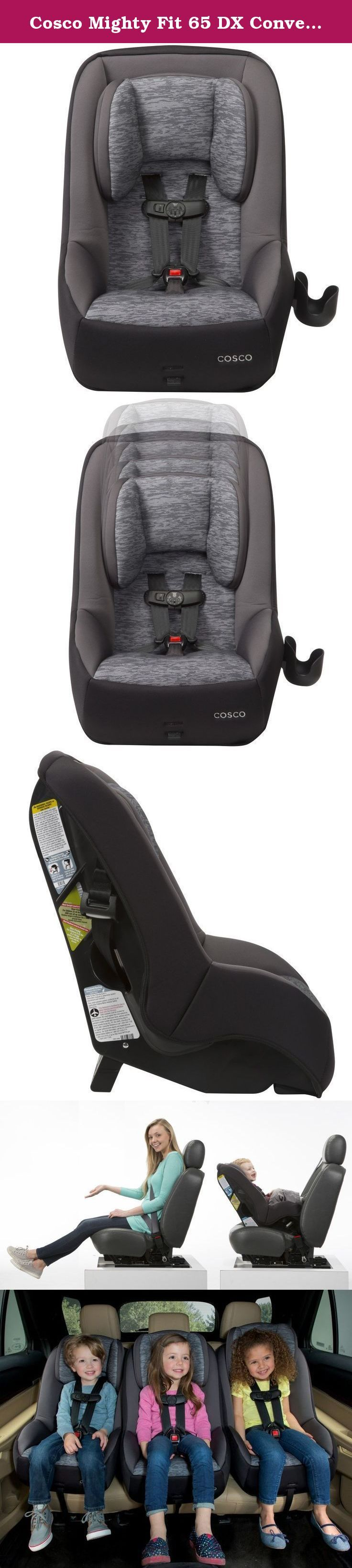 Cosco mighty fit 65 dx convertible car seat heather onyx gray get the car seat that s designed with your family s real life in mind the cosco mi