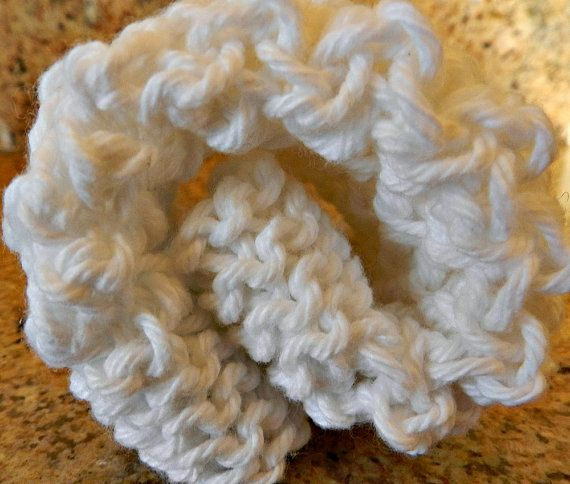 Knit Cotton Dishcloth Square Dishrag White Cleaning Cloth by Cozy