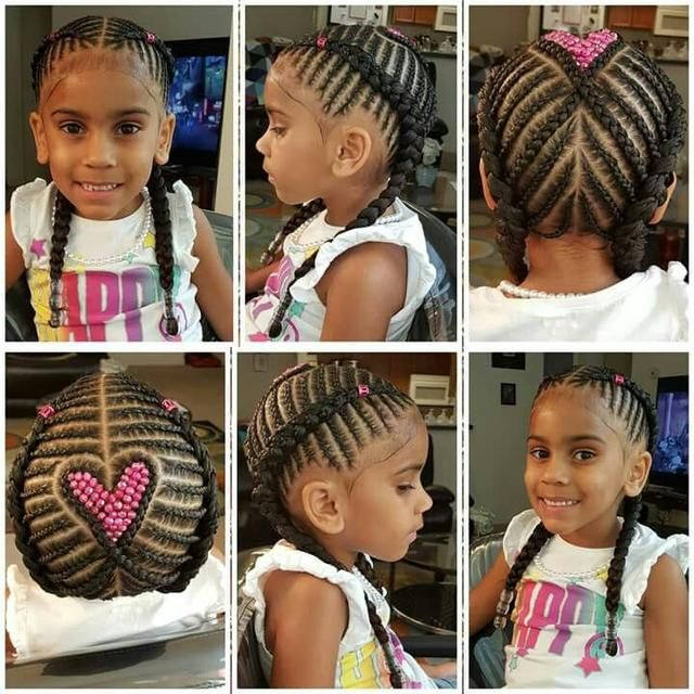 50 Heart Hair Style For Little Girls 2018 Kids Hairstyles Black