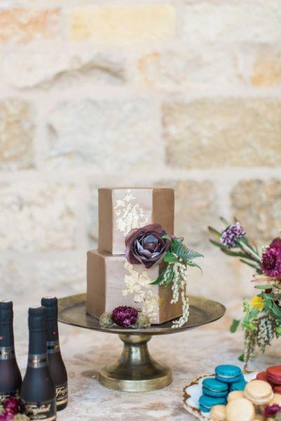 Fondant Hexagon Wedding Cake by Frost It Cakery
