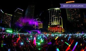 Run past different DJ stages on a 5K course amid interactive light shows, then celebrate at a main-stage after party with DJs spinning EDM