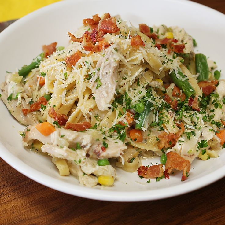 Everyone loves chicken pot pie. Everyone loves pasta. So bring these two tasty dishes together forChicke...