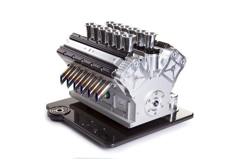 Espresso Veloce - Nero Carbonio V12.  Handcrafted by Paolo Mastrogiuseppe