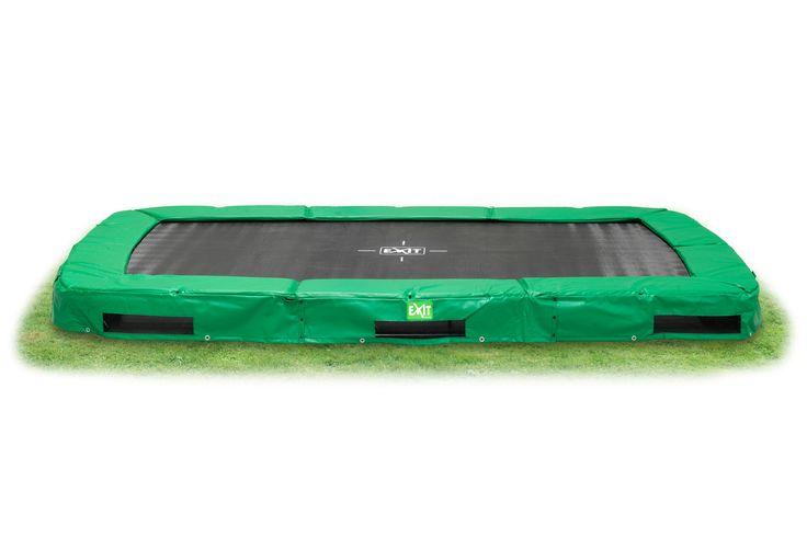 Trampoline In Terra Rectangulaire Vert 244 x 427 au meilleur prix ! - LeKingStore