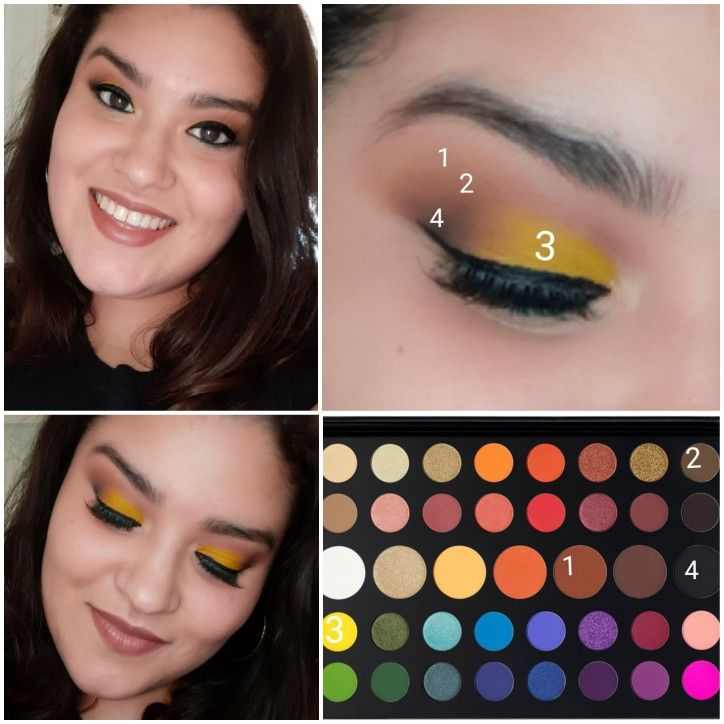 A Hint Of Yellow To A Neutral Eyeshadow Look Using The Morphe James Charles Palette Eyeshadow Makeup Artistry Makeup