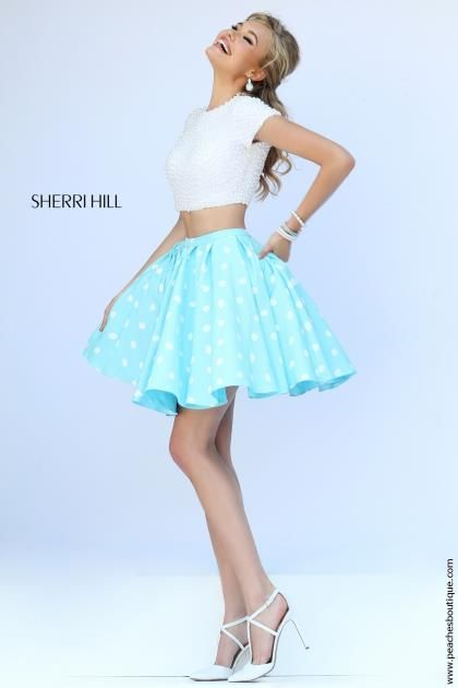 Two Piece A Line Sherri Hill Short Dress 32247