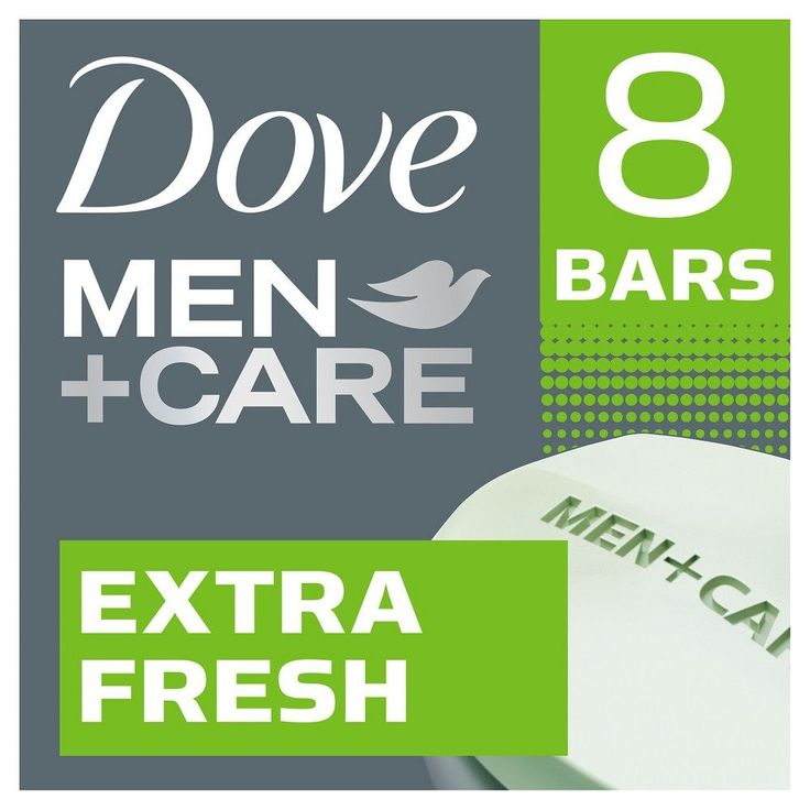 Dove Men+Care Extra Fresh Body and Face Bar Soap - 8ct - 4oz