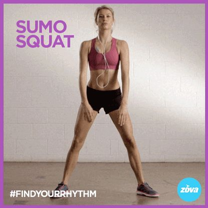 zovafit:  The Sumo Squat This wide-legged squat focuses on your butt & inner thighs. It's a great exercise to add into your lower body workout routine for a little extra mobility and strengthening. The sumo squat is a compound exercise (An exercise that involves two or more joint movements)with a deep range of motion. Engaging the entire lower half of the body, including the hips, glutes, quads, hamstrings, and calves. Sumo squats also work your core, shoulders, and back making them an ...