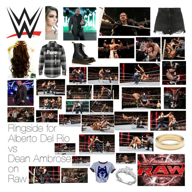 """Ringside for Alberto Del Rio vs Dean Ambrose on Raw"" by wwediva72 ❤ liked on Polyvore featuring beauty, Alexander Wang, Dr. Martens, WWE, Monday and Tiffany & Co."