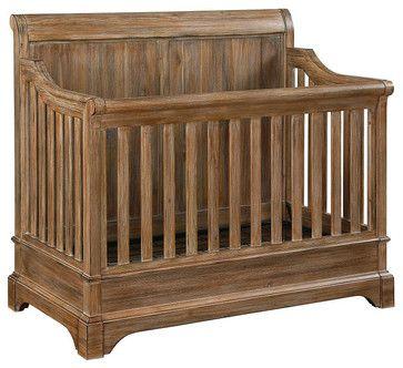 Bertini Pembrooke 4-in-1 Convertible Crib, Natural Rustic rustic-cribs