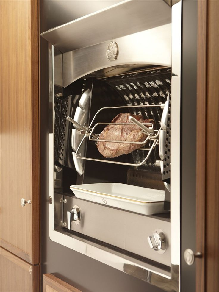 La Cornue Flamberge in Stainless Steel  *Cooking Meat*  La Cornue Porceline Tray Below..    http://www.grange.fr/grange/easysite/grange/us/browse-products/aga-cookers