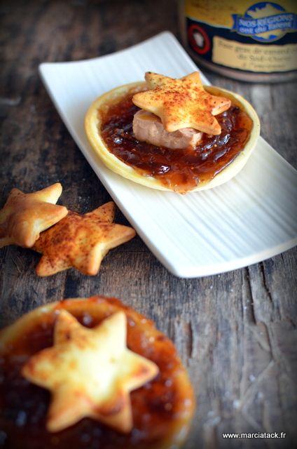 Petits feuilletés aux figues de Provence et foie gras