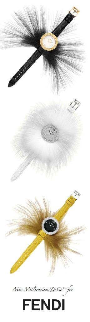 FENDI 2015 Fur Glamy Timepieces with Removable Fur - Miss Millionairess's Boutique™