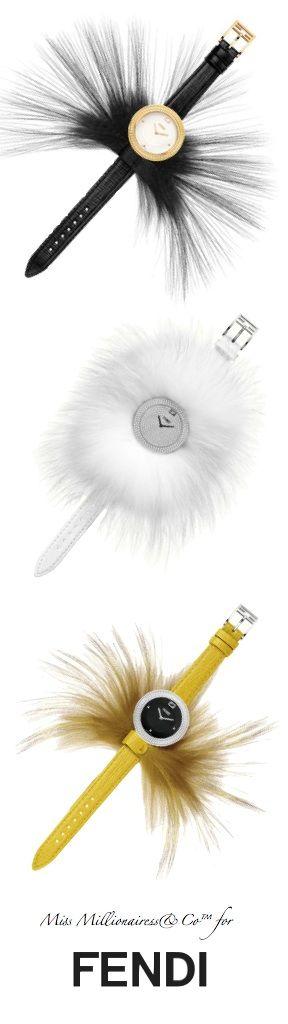 FENDI 2015 Fur Glamy Timepieces with Removable Fur - Miss Millionairess's Boutique™