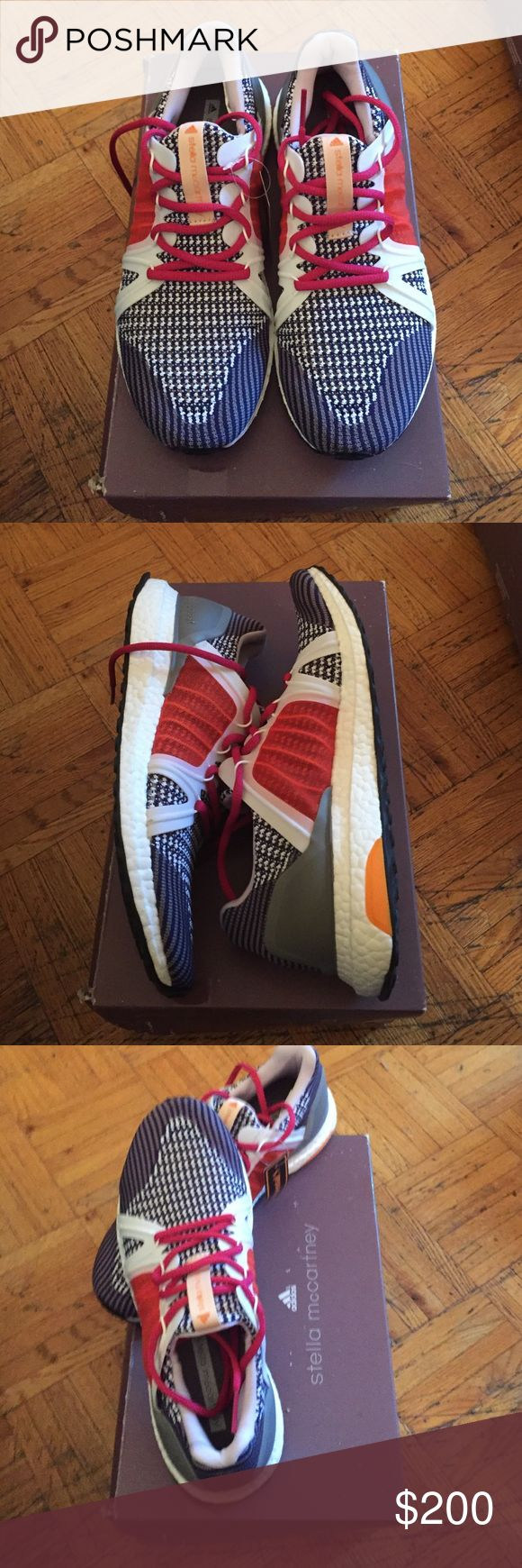 ADIDAS STELLA MCCARTNEY ULTRA BOOST RUNNING SHOES Brand new in the box. ULTRA BOOST SHOES STANDOUT RUNNING SHOES FEATURING BOOST AND DESIGNED BY STELLA MCCARTNEY. Adidas Shoes Athletic Shoes