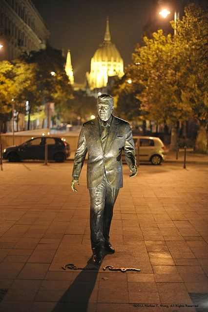 Ronald Reagan Statue in Hungary
