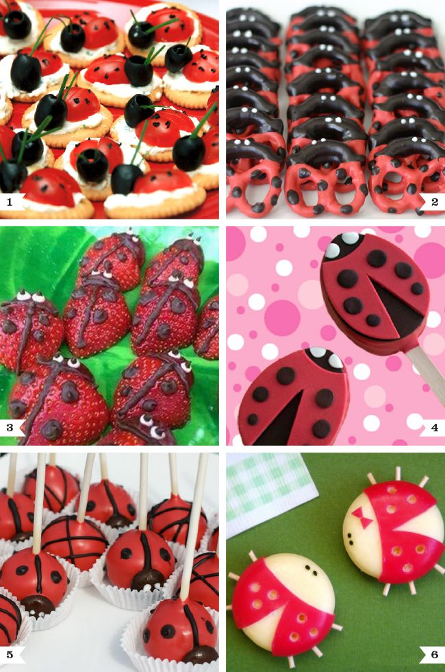 Ladybug party food ideas - cute desserts and snacks that are perfect for a ladybug party! {Chickabug}