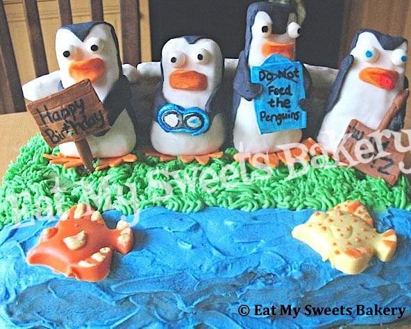 Specialty Cake- Penguins