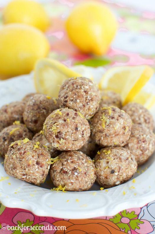 Lemon Pie Energy Bites - 4 Ingredients, Healthy, and tastes like lemon pie!!!