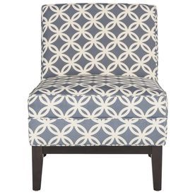 safavieh armond casual blue linen accent chair mcr1006j
