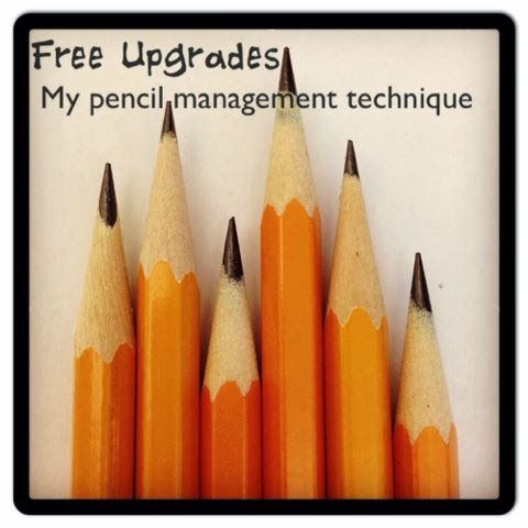 """OMG I love this """"Free Upgrades"""" idea for dealing with students who always lose their pencil. This is AMAZING!"""