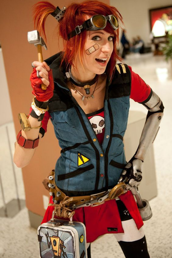 Gaige, The Mechromancer!! Borderlands 2...by far the best playable character in the video game!