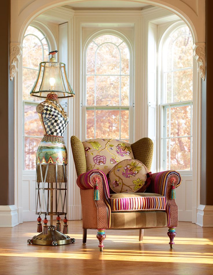 Introducing The New Bittersweet Wing Chair And Dressmakeru0027s Floor Lamp, Mackenzie  Childs.