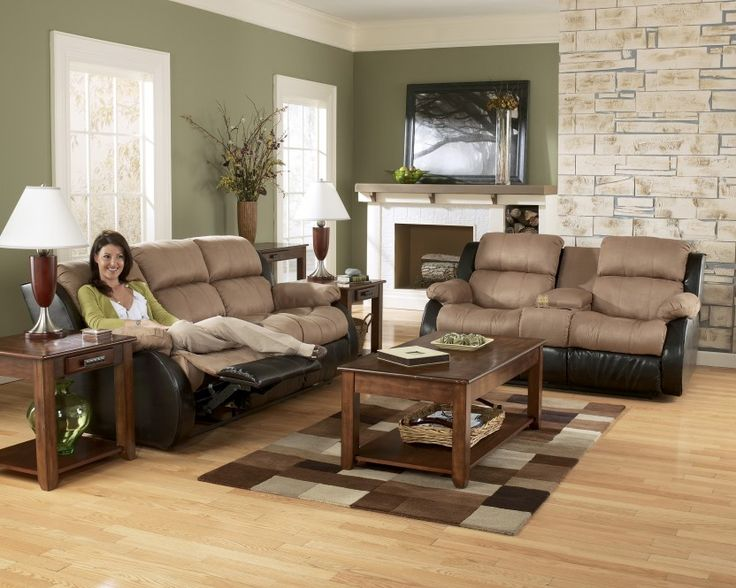 Ashley Furniture Clearance Sales | Presley Cocoa Reclining Sofa Group